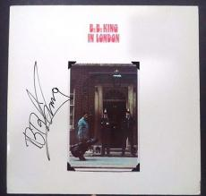 """Bb King Music Legend Signed Autographed """"bb King In London"""" Album Cover Coa Rare"""