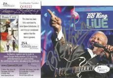 Bb King Music Legend Signed Autographed Cd Booklet Jsa Coa Authenticated Rare