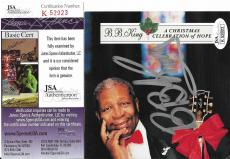 Bb King Music Legend Signed Autographed Cd Cover Jsa Coa #k52923 Authenticated