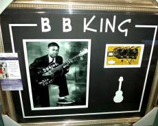 Bb King Music Legend Signed Autographed Double Matted & Framed Jsa Coa Authentic