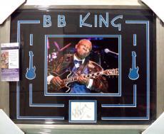 Bb King Music Legend Signed Autographed Double Matted & Framed Jsa Coa Rare C
