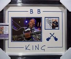 Bb King Music Legend Signed Autographed Double Matted & Framed Jsa Coa Rare D