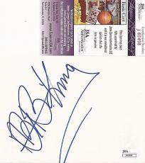 Bb King Music Legned Jsa Coa Signed Autographed 3x3 Cut Slab Authentic L@@k B