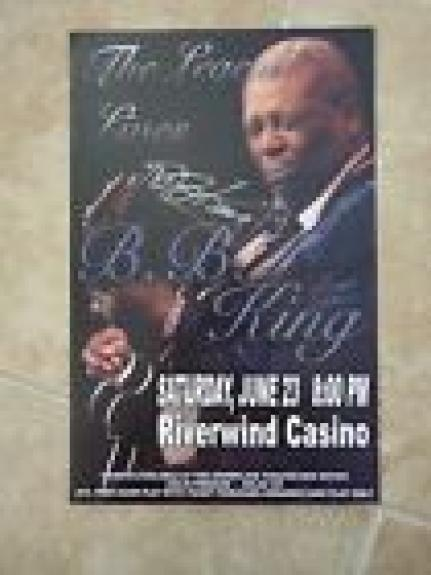 BB King Of The Blues Signed Autographed 11x17 Concert Poster PSA Guaranteed #3