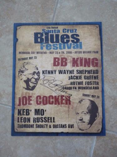 BB King Of The Blues Signed Autographed 12x15 Concert Poster PSA Guaranteed #1