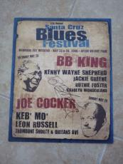 BB King Of The Blues Signed Autographed 12x15 Concert Poster PSA Guaranteed #2