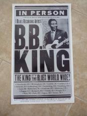 BB King Of The Blues Signed Autographed 13.5x22.5 Concert Poster PSA Guaranteed