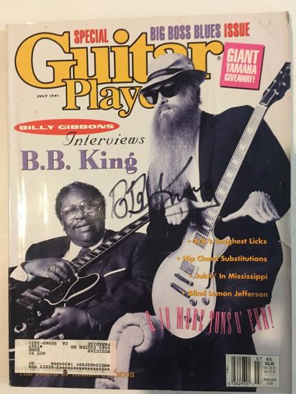 BB King Of The Blues Signed Autographed Guitar Player Magazine PSA Guaranteed