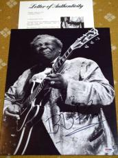 Bb King Psa/dna Coa Hand Signed 11x14 Photo Authenticated Autograph