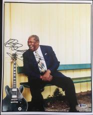 B.b. King Signed 11x14 Photo Blues Legend Autograph Bas Loa Beckett Bb