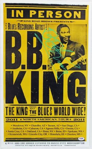 Autographed B.B. King Picture - 22x14 Concert Poster PSA DNA #Q12556