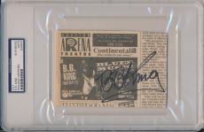 B.b. King Signed Advertisement Cut Psa/dna Authentic Autograph #x04974 Rare