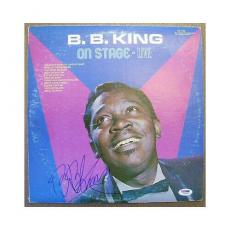 B.B. King Signed Album Cover - On Stage Live - PSA DNA