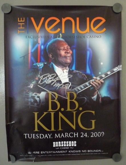 BB King Signed Autographed 18x24 2009 Concert Poster PSA BAS Guaranteed #1 READ