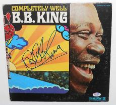 BB KING Signed Autographed COMPLETELY WELL ALBUM LP B.B. Blues PSA DNA