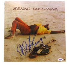 """B.B. KING Signed Autographed """"Guess Who"""" Album LP PSA/DNA #F87570"""