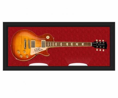 B.B. King Signed Autographed LP 6-String Guitar Display Case AFTAL UACC RD COA