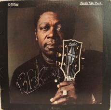 """BB KING Signed Autographed """"Lucille Talks Back"""" Album LP JSA #Y70556"""