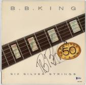 BB King signed autographed Six Silver Strings record album! Beckett BAS COA!