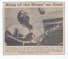 BB King Signed Autographed Vintage Newspaper Clipping Blues Legend