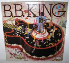 B.b. King Signed 'blues And Jazz' Album Cover Autograph Psa/dna Coa