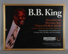 B.B. King Signed Concert Poster in Display – JSA