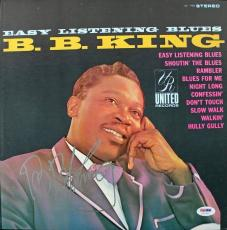 B.b. King Signed Easy Listening Blues Album Cover Psa/dna #u52963