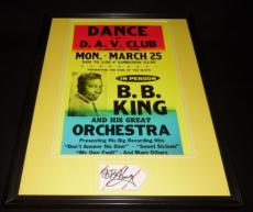 BB King Signed Framed 16x20 Photo Poster Display JSA
