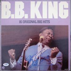 BB King signed LP Album Cover 16 Original Big Hits PSA/DNA