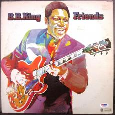 BB King signed LP Album Cover Friends PSA/DNA
