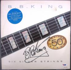 BB King signed LP Album Cover Six Silver Strings PSA/DNA