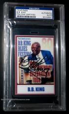BB King Signed Original 80th BDay Tour Backstage Pass issued to BB! PSA [album]
