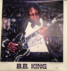 B.B. King Signed Poster w/PSA DNA Blues Legend Limited Edition LOA 932/1000