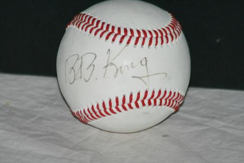B.B. King Signed Rawlings Official R100 League Baseball, Roger Epperson/REAL LOA