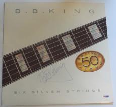 B.B. KING SIGNED Six Silver Strings 50TH ALBUM w/ PSA DNA Coa BB Blues Legend