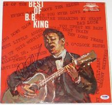 B.B. KING SIGNED THE BEST OF BB KING ALBUM w/ PSA DNA Coa Blues Legend