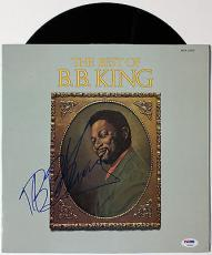 "B.b. King Signed ""the Best Of B.b. King"" Vinyl Record Album Psa/dna Loa V10832"