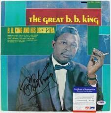 B.b. King The Great B.b. King Signed Album Cover W/ Vinyl Psa/dna #l10405