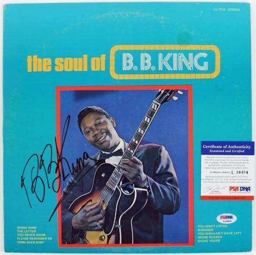 B.B. King The Soul Of B.B. King Signed Album Cover W/ Vinyl PSA/DNA #L10404