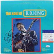 B.B. King The Soul Of B.B. King Signed Album Cover W/ Vinyl PSA/DNA #L10404