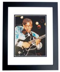 BB King unsigned Concert 8x10 Photo BLACK CUSTOM FRAME
