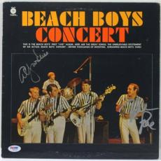 Beach Boys (3) Brian Wilson, Love & Jardine Signed Album Cover Psa/dna #w00410