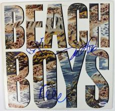 Beach Boys (3) Johnston Jardine & Love Signed Album Cover W/ Vinyl PSA #S80809