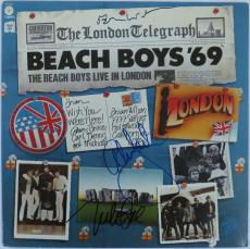 Beach Boys 69' Signed Authentic Album Cover Wilson/Love/Jardine PSA/DNA LOA