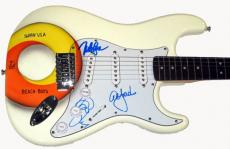 Beach Boys Airbrushed Signed Guitar UACC RD COA x3 AFTAL