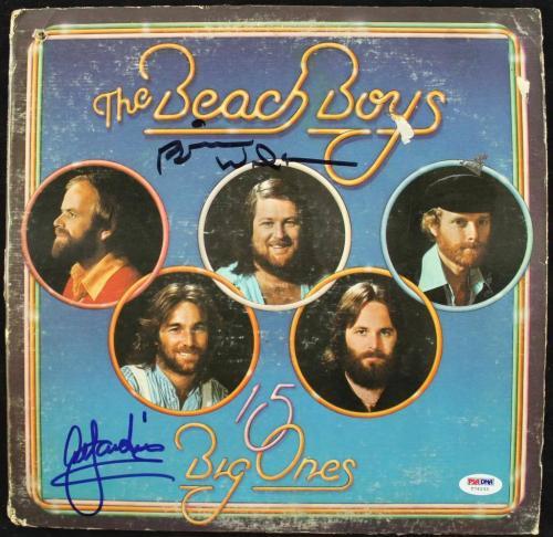 Beach Boys- Brian Wilson & Al Jardine Signed Album Cover W/ Vinyl PSA #T76233