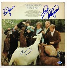 Beach Boys Brian Wilson Mike Love Bruce Johnston signed Album cover 3 auto PSA
