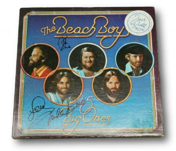 Beach Boys Signed Album Big Ones Autographed Mike Love Bruce Johnston PSA/DNA