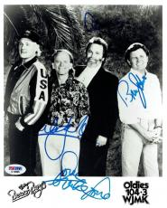 Beach Boys Signed Authentic 8x10 Photo Love/Wilson/Jardine/Johnston PSA/DNA LOA