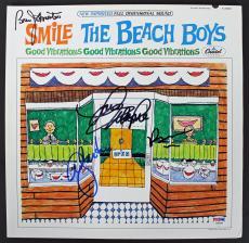 Beach Boys (Wilson, Johnston, Jardine & Love) Signed Album Cover PSA #AB03344
